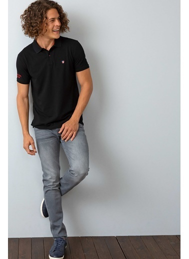 U.S. Polo Assn. Slim Fit Polo Yaka Tişört Siyah